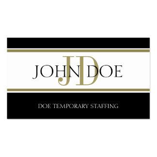 Staffing Agency Gold Stripe W/W Business Card