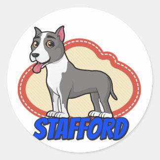 Stafford! Classic Round Sticker