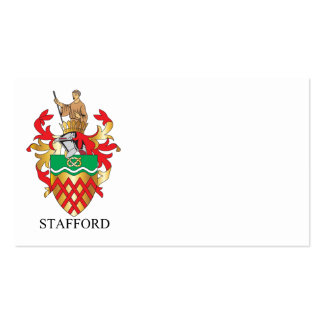 Stafford coat of arms business card