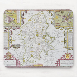 Stafford County and Town, engraved by Jodocus Mouse Pads