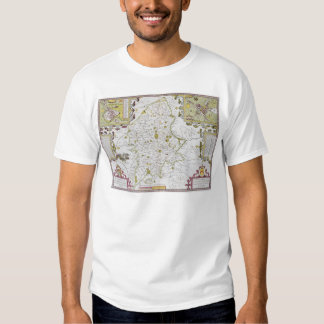 Stafford County and Town, engraved by Jodocus T-shirt