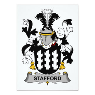 Stafford Family Crest Card
