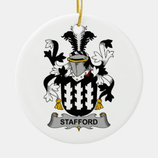 Stafford Family Crest Christmas Ornaments