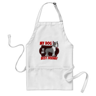 Stafford is my best friend adult apron