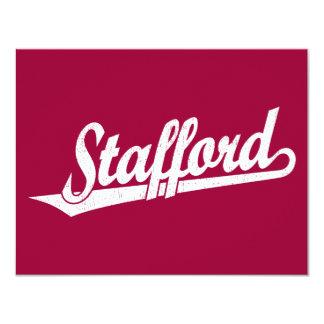 Stafford script logo in white distressed card