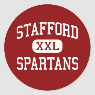 Stafford - Spartans - Middle - Stafford Texas Classic Round Sticker