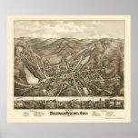 Stafford Springs, CT Panoramic Map - 1878 Poster