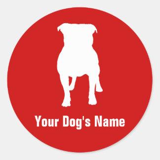 Staffordshire Bull Terrier スタッフォードシャー・ブル・テリア Classic Round Sticker
