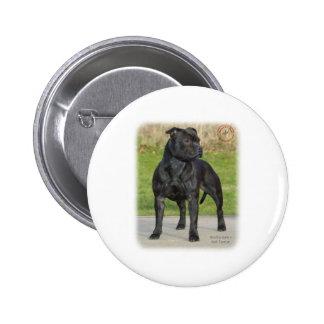 Staffordshire Bull Terrier 2 Inch Round Button