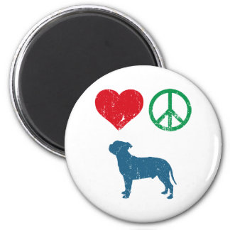 Staffordshire Bull Terrier 2 Inch Round Magnet