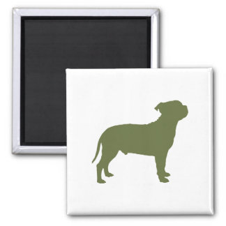 Staffordshire Bull Terrier 2 Inch Square Magnet