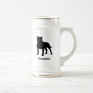 Staffordshire Bull Terrier Beer Stein