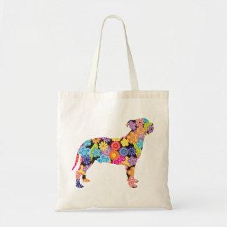 Staffordshire bull terrier bolsa tela barata
