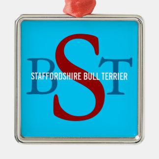 Staffordshire Bull Terrier Breed Monogram Christmas Tree Ornament