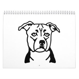 Staffordshire Bull Terrier Calendar