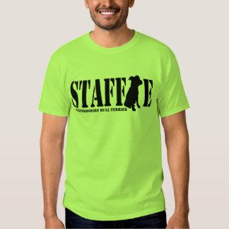 Staffordshire bull terrier - camisa/negro del playeras