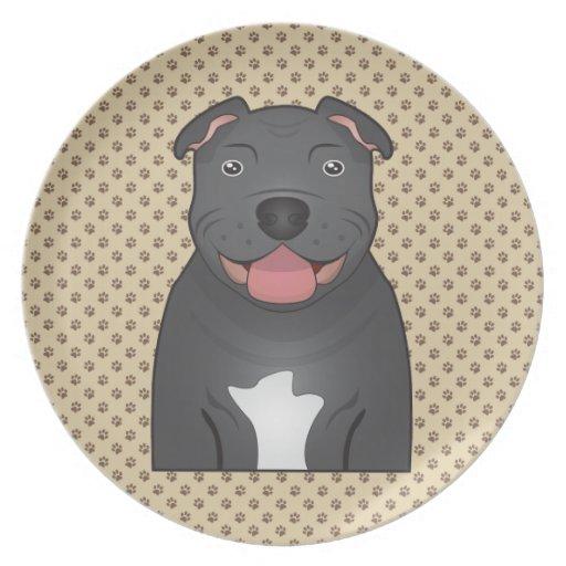 Staffordshire Bull Terrier Cartoon Party Plates