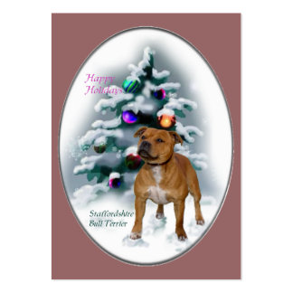 Staffordshire Bull Terrier Christmas Gifts Large Business Card