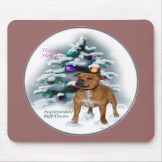 Staffordshire Bull Terrier Christmas Gifts Mousepads