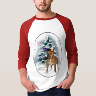 Staffordshire Bull Terrier Christmas Gifts Shirt