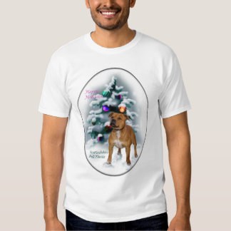 Staffordshire Bull Terrier Christmas Gifts T Shirt