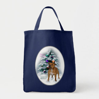Staffordshire Bull Terrier Christmas Gifts Tote Bag