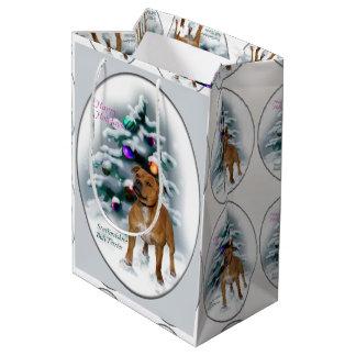 Staffordshire Bull Terrier Christmas Medium Gift Bag