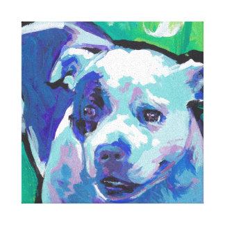 staffordshire bull terrier Colorful Pop Dog Art Canvas Print