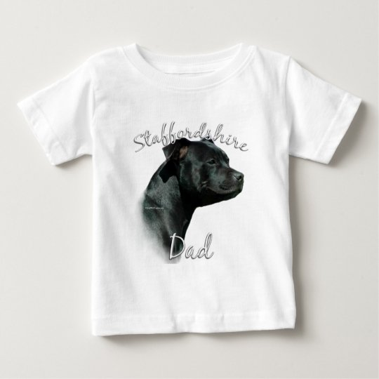 Staffordshire Bull Terrier Dad 2 Baby T-Shirt