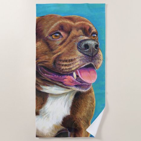 Staffordshire Bull Terrier Dog Beach Towel