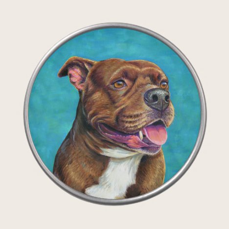 Staffordshire Bull Terrier Dog Candy Tin