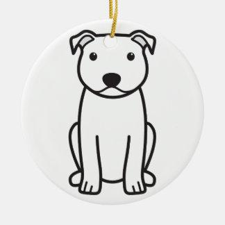 Staffordshire Bull Terrier Dog Cartoon Ornament