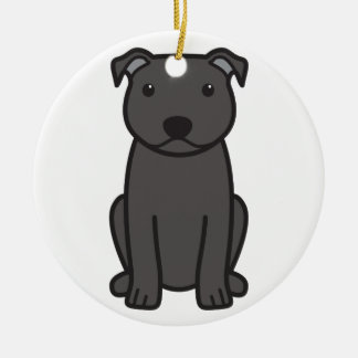 Staffordshire Bull Terrier Dog Cartoon Christmas Tree Ornament