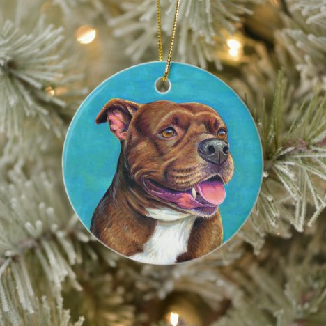 Staffordshire Bull Terrier Dog Ceramic Ornament