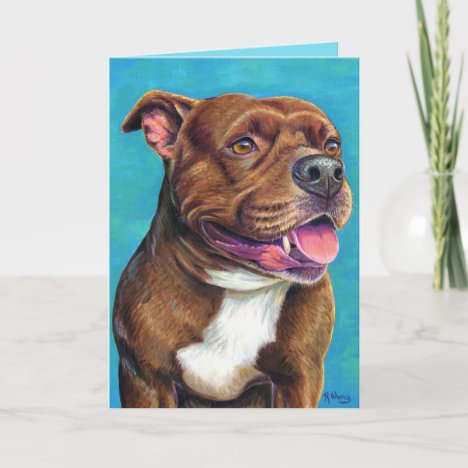 Staffordshire Bull Terrier Dog Greeting Card