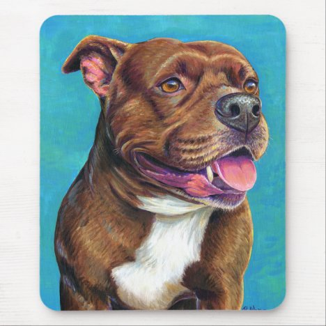 Staffordshire Bull Terrier Dog Mouse Pad