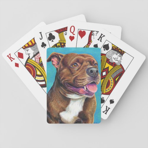 Staffordshire Bull Terrier Dog Playing Cards