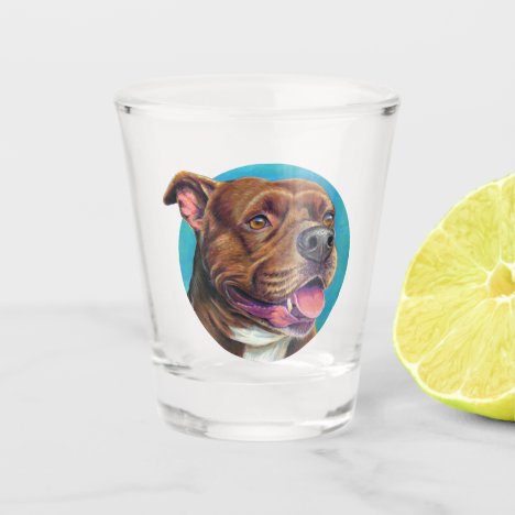 Staffordshire Bull Terrier Dog Shot Glass