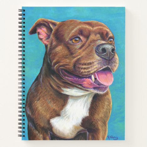 Staffordshire Bull Terrier Dog Spiral Notebook