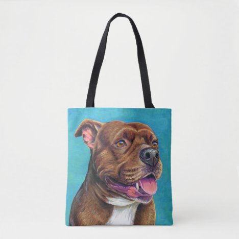 Staffordshire Bull Terrier Dog Tote Bag