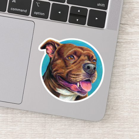 Staffordshire Bull Terrier Dog Vinyl Sticker