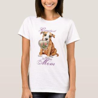 Staffordshire Bull Terrier Heart Mom T-Shirt