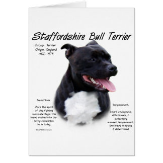 Staffordshire Bull Terrier History Design Greeting Card