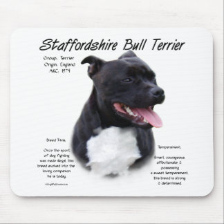 Staffordshire Bull Terrier History Design Mouse Pads