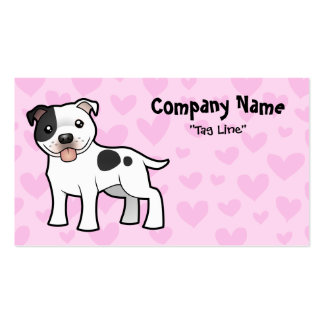 Staffordshire Bull Terrier Love Business Card