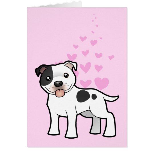 Staffordshire Bull Terrier Love Card