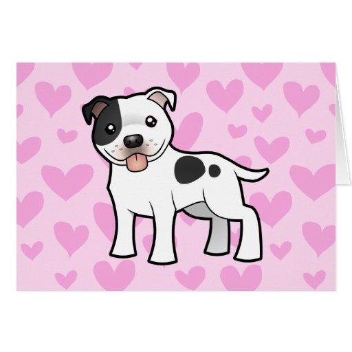 Staffordshire Bull Terrier Love Greeting Card