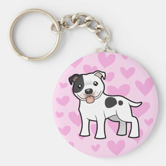 Staffordshire Bull Terrier Love Keychain