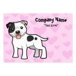 Staffordshire Bull Terrier Love Large Business Card