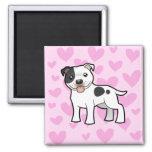 Staffordshire Bull Terrier Love Refrigerator Magnet